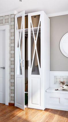 Aprovechar el espacio del recibidor es posible, un armario donde colocar elementos de uso diario como abrigos o bolsos.