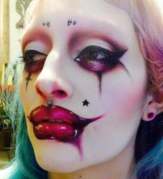 dracmakens:An unposted photo of the michael hussar inspired makeup I did on annunakialessandra a little while back. She rocks this look, I need to paint her face again soon!