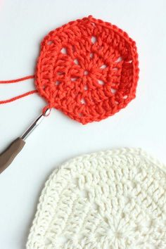 Free pattern for a basic crochet hexagon. Super clear step-by-step photo tutorial. This pattern can be used to make any size hexagon for pillows, rugs, patchwork afghans or even clothes.   MakeAndDoCrew.com