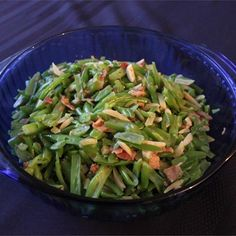 """Sauteed Green Beans I """"We added a little onion to the pan to saute with the bacon, used fresh green beans, and added some seasoning salt, and these were delicious!"""""""