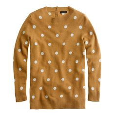 J. Crew Collection cashmere polka-dot sweater in caramel dusk. Good color for a pale, blond person or not?