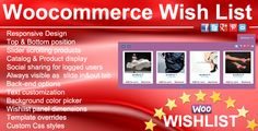 This plugin Offer to your customers the possibility to add the products of your online store to a wishlist. Displayed as slide inout tab , always visible. It also gives the option to share their wishlist to social media. Wishlist can be displayed on the top or the bottom of your website, Wishlist product are displayed as slider in Responsive design. Each product displayed will have image, title, price and also linked product.