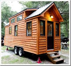 Tiny Living is Tiny Home Builders most popular tiny house design Building A Tiny House, Tiny House Plans, Tiny House On Wheels, Small Space Living, Tiny Living, Small Spaces, Living Area, Tiny Houses For Sale, Small Houses