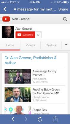 Alan Greene MD YouTube