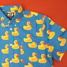 Neff Washed Out Blue Ducky Button Up Shirt Duck Shirt, Men's Formalwear, Quack Quack, Ldr, Men's Apparel, Up Styles, Stylish Men, Fashion Men, Cool Watches