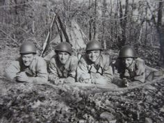 Vintage Photo, Army Buddies, Soldiers, Friends, WWII Photography, Black & White Vintage Photo, U.S. Army Field Soldiers, Military, Militaria
