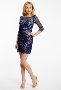 LACE 3/4 SLEEVE DRESS #shortdress #dresses #fashion #camillelavie #groupusa