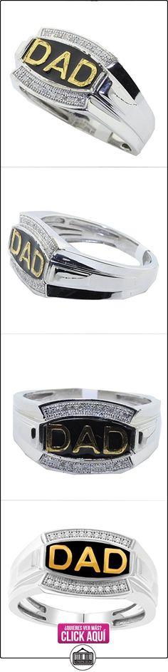 rings-midwestjewellery. com Anillo de los hombres, día del padre Papá anillo 10K oro blanco 0,08quilates diamantes (0,08quilates)  ✿ Joyas para hombres especiales - lujo ✿ ▬► Ver oferta: https://comprar.io/goto/B015QM2D1A