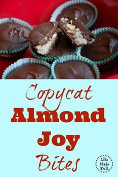 Copycat almond joy bites. Yum!