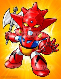 Tobe! Grendizer! Coming soon: Getter Robot G, Rydeen, Gaiking, Combattler, Ga-Keen, Gloizer X......Super Deformed !!!!!!!!!!!!! Grendizer © Dynamic Planning - Toei Animation