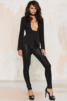 Nasty Gal Boss Move Asymmetric Blazer - Clothes | Valentine's Day | Blouses | Blazers + Capes | Tops | Jackets + Coats | Party Clothes