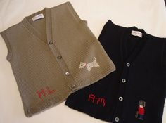 Our personalised waistcoats are a must for any season! In mink merino cashmere blend with hand embroidered scotty dog or deep navy with guardsman and child's initials. A great gift idea! http://www.suehillchildrenswear.com/baby-boys-personalised-guardsman-waistcoat.html