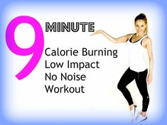 Calorie Burning Low Impact Workout - 9 minutes and no noise