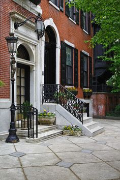 Philadelphia Rowhouses. Love seeing these on my trips to Philly.