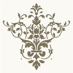 8 Best Images of Free Printable Wall Stencils Damask - Free Damask Stencil Printable Template, French Damask Stencil and Large Wall Damask Stencil Pattern Damask Decor, Damask Stencil, Stencil Diy, Stencil Painting, Wall Stenciling, Wallpaper Stencil, Wallpaper Designs, Wall Stencil Patterns, Stencil Designs