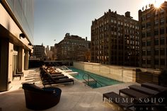 Our Bar d'Eau pool deck overlooks the streets of #SoHo