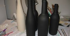 So how do I paint the wine bottles?     From this :         To this:          Step 1:  Drink WINE.       Step 2: Drink more WINE.      Step...
