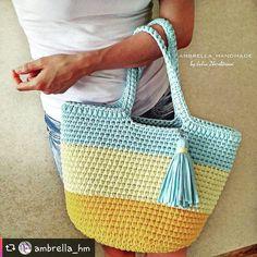 Bolsa linda   Inspiração @ambrella_hm  #crochetinspiration #knittinginspiration #bolsadecroche #bolsaartesanal #exclusividade #fiodemalhaecologico #modafeminina #modainspiration