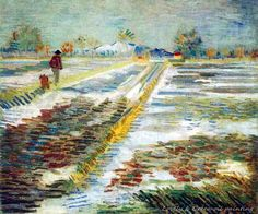 Landscape With Snow Vincent Van Gogh. FREE Shipping Worldwide! Buy now! #art, #homedecor, #best, #painting, #buy, #wall, #top, #love, #room, #new, #canvas, #picture, #fantasy, #dream, #artist, #cheaper, #free, #shipping, #print, #oil, #image, #gemalde, #gemaelde, #gemälde