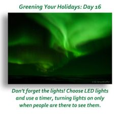 We're on Day 16 of our Greening Your Holidays series. How many action are *you* taking?