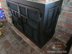 Take a look at our unique L-Shaped Fireplace Doors!
