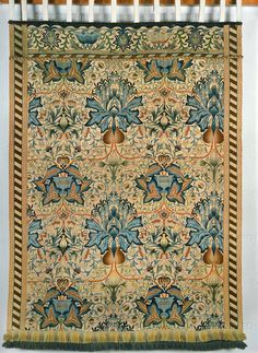 ARTS AND CRAFT TAPESTRY 19TH  Morris, William  Artichoke embroidered wall-hanging 1877-1900.  Victoria and Albert Museum, London, Great Britain