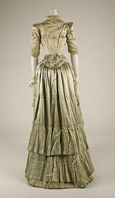 Dress (image 3) | French | 1881-1882 | silk | Metropolitan Museum of Art | Accession Number: C.I.38.61a, b
