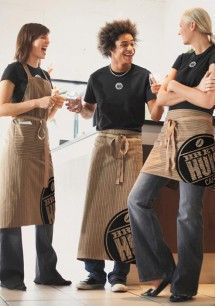 cool cafe uniforms - Google Search                                                                                                                                                                                 More