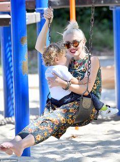 Gwen Stefani takes her son Apollo to the park
