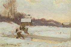 John Henry Twachtman - Winter Scene