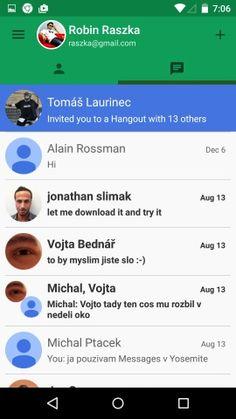 Hangouts Screenshots