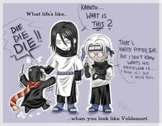 yaoi harry potter funny | ... .jpg Orochimaru and kabuto meet harry potter lol! image by mewxtan