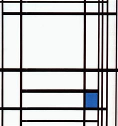 Composition with Blue - Piet Mondrian