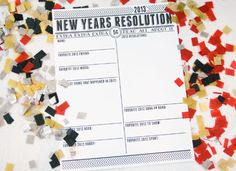 new years resolution free printables