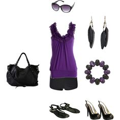 Summer day or Summer night, created by kristy-ishmael on Polyvore