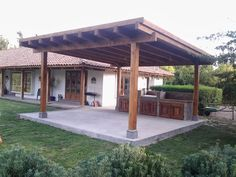 backyard porch ideas on a budget patio makeover outdoor spaces best of i like this open layout like the pergola over the table grill 17 ~ mantulgan. Pergola Carport, Outdoor Pergola, Wooden Pergola, Backyard Pergola, Backyard Retreat, Backyard Landscaping, Outdoor Spaces, Outdoor Living, Pergola Kits