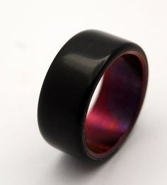 The Crimson Night black onyx wedding band is simple yet rich in color. This wedding band exudes charm with an exterior overlay of Black Onyx. Titanium Rings For Men, Titanium Wedding Rings, Wedding Rings Simple, Custom Wedding Rings, Black Wedding Bands, Gothic Wedding Rings, Vintage Engagement Rings, Vintage Rings, Halo Engagement