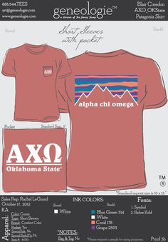 Sorority Apparel | AXO fratagonia style t-shirt