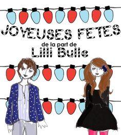 Flyer Joyeuses Fêtes pour Lilli Bulle