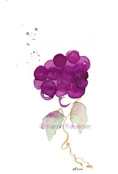 Glass of Vine giclee fine art print by karenfaulknerart on Etsy, $15.00