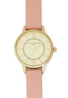 Elegant in Any Occasion Watch in Rose. Getting dressed for the day? #pink #modcloth