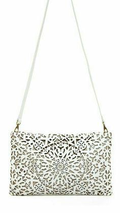 da886e6e7da4 Leather Clutch, Clutch Bag, Leather Handbags, Floral Clutches, Laser Cut  Leather,