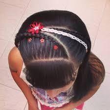 Peinados con cintas para primera comunion