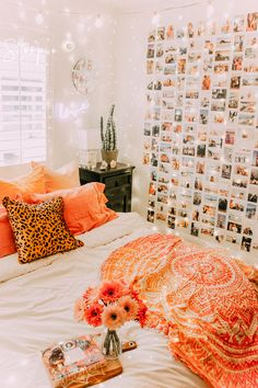 Align Your Chakras Guide - room inspo - Dorm Room İdeas Diys Room Decor, Cute Room Decor, Home Decor, Decor Ideas, Dorm Room Wall Decorations, Fall Room Decor, Bohemian Room Decor, Orange Rooms, Orange Room Decor
