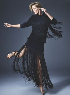 Red Magazine December issue   Caroline Winberg wearing DKNY   Photograph: Chris Craymer   Styling: Alexandra Stedman