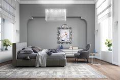 Pat tapitat cu spatiu de depozitare Gaucho #homedecor #interiordesign #bedroomdecor #bedroom #beds #modern #luxury #style Gaucho, Shabby Chic, Wall Decor, Sofa, Bed, Interior, Furniture, Design, Home Decor