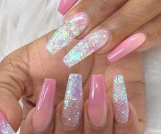 Manicure Nail Designs, Nail Polish Designs, Acrylic Nail Designs, Nail Art Designs, Nails Design, Classy Nails, Cute Nails, Pretty Nails, Glitter Nails