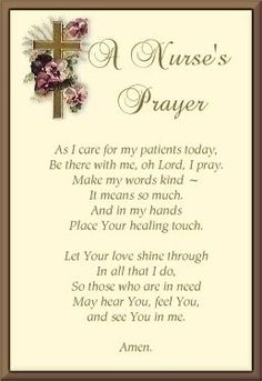 Please Lord, every shift....every patient!