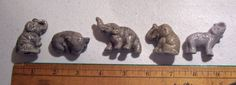 Vintage Lot of 5 Japan Mini elephant Figures 1 Lusterware Cute & Brings Good Luck