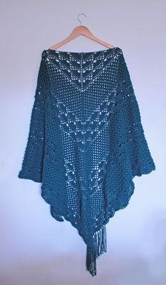 xaile em croché | crochet shawl